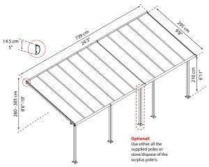 Palram - Canopia | Cobertura para Terraço Olympia de Policarbonato 56