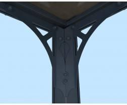 Palram - Canopia | Pérgula de Jardim Milano de Policarbonato, Cor Cinzento e Bronze 11